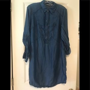 Blue Jean shirt dress.